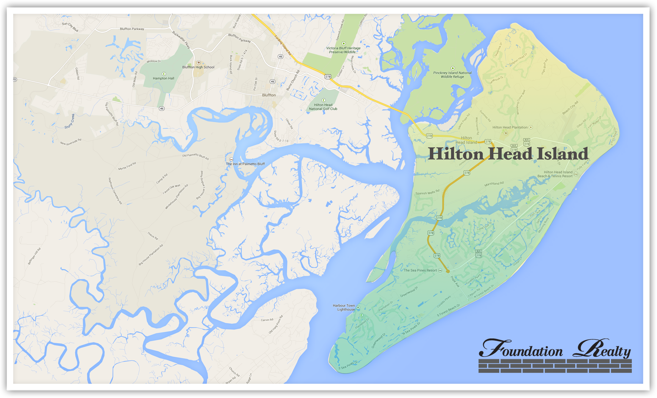 Hilton Head Real Estate Map