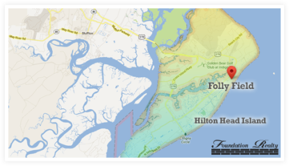 Folly Field Real Estate Map