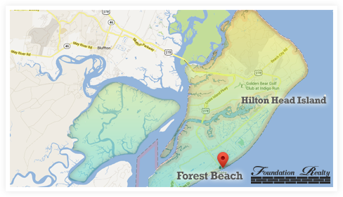 Forest Beach Real Estate Map