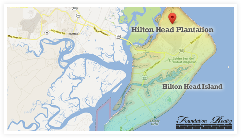 Hilton Head Plantation Real Estate Map