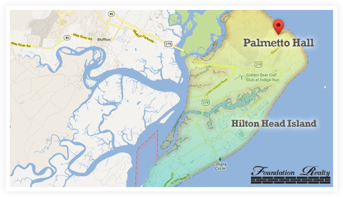 Palmetto Hall Real Estate Map