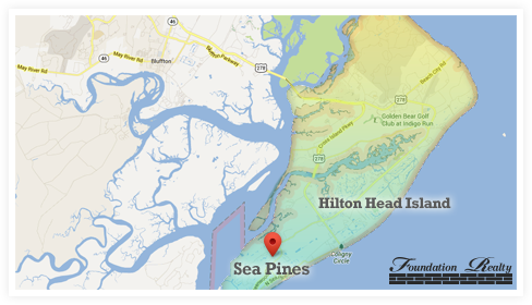 Sea Pines Real Estate Map